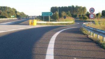 investito in autostrada