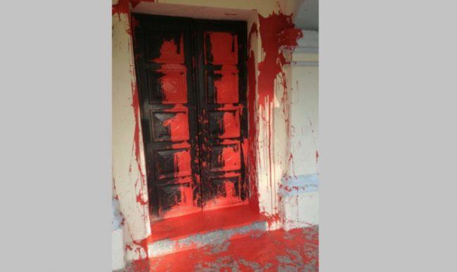 sangue sulla chiesa