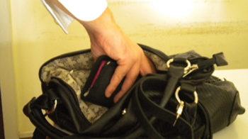 derubata della borsa