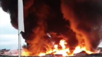 incendio in azienda