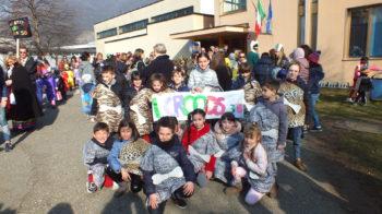 Scuole Serravalle sfilata carnevale 2020