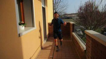 corsa sul balcone