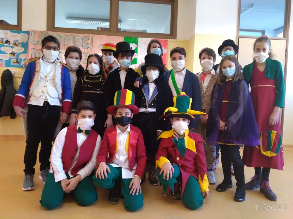 Scuole Valduggia in maschera carnevale 2021