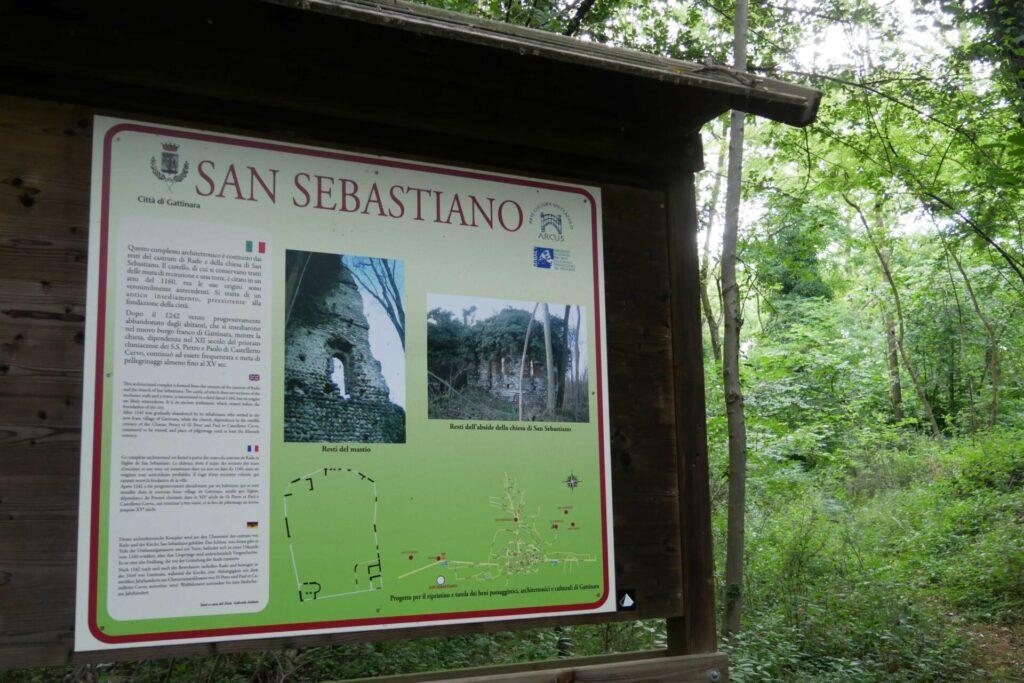 """Gattinara protesta per San Sebastiano """"inghiottito"""" dalla vegetazione"""