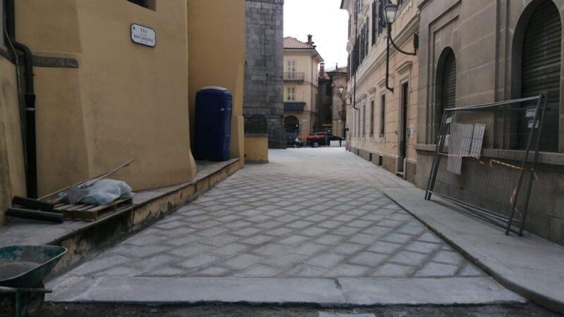 Borgosesia conclude i lavori su via Bocciolone: si riapre