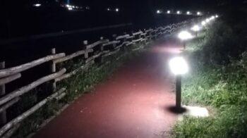 Pista ciclabile illuminata tra Muro e Scopetta
