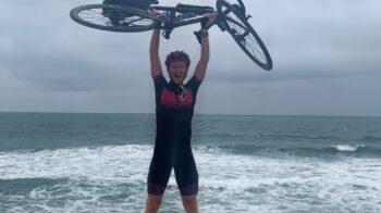 Matteo in bicicletta da Ghemme fino all'Atlantico