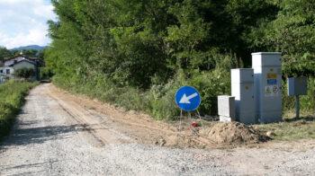 Prato Sesia sistema la strada che porta a Cascina Spazzacamini