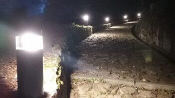 Quarona prova le luci sul sentiero di San Giovanni